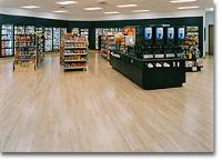 Hansen's wood flooring image of convenience store